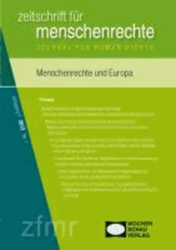 Menschenrechte in Europa - Zeitschrift für Menschenrechte 1/2013.