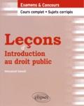 Messaoud Saoudi - Leçons d'Introduction au droit public.