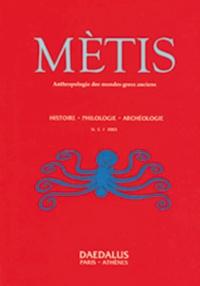 Métis - Mètis N° 1/2003 : .