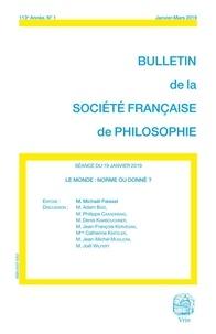 Michaël Foessel - Le monde normé ou donné?.