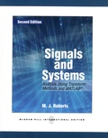 Michael J. Roberts - Signals and Systems - Analysis Using Transform Methods and MATLAB.