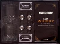 Michael Jackson et Dominic Roskrow - Coffret Easy whisky - Le guide de référencepour tout comprendre au malt whisky avec 2 verres à whisky et 4 glaçons diamant.