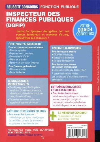 Inspecteur des finances publiques (DGFIP). Concours externe, interne, examen professionnel, Catégorie A
