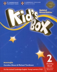 Michael Tomlinson et Caroline Nixon - Kid's Box 2 - Activity Book with Online Resources.