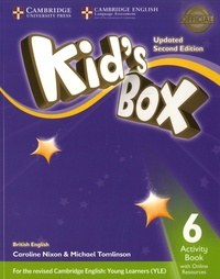 Michael Tomlinson et Caroline Nixon - Kid's Box 6 - Activity Book with Online Ressources.