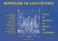 Michel Alabau et Jean-Sébastien Bach - Répertoire de Saint-Séverin - 30 ans de musique au service de l'assemblée.