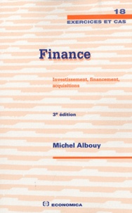 Michel Albouy - Finance - Investissement, financement, acquisitions.