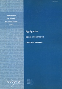 Michel Aublin - Agrégation Génie mécanique - Concours externe.