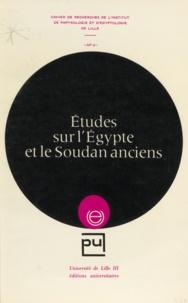 Michel Azim et François Baratte - Études sur l'Égypte et le Soudan anciens.