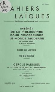 Michel Barat et Roger Moreau - Intérêt de la philosophie pour comprendre le monde moderne.