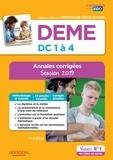 Michel Billet et Eric Furstos - DEME, épreuves de certification DC 1 à 4, annales corrigées - Diplôme d'Etat de moniteur-éducateur.