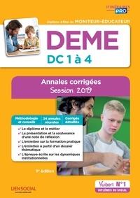 DEME, épreuves de certification DC 1 à 4, annales corrigées- Diplôme d'Etat de moniteur-éducateur - Michel Billet pdf epub