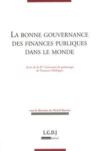 Checkpointfrance.fr La bonne gouvernance des finances publiques dans le monde - Actes de la IVe Université de printemps de Finances Publiques Image