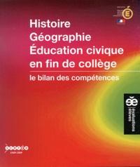 Michel Braxmeyer et Nicole Braxmeyer - Histoire Géographie Education civique en fin de collège - Le bilan des compétences.