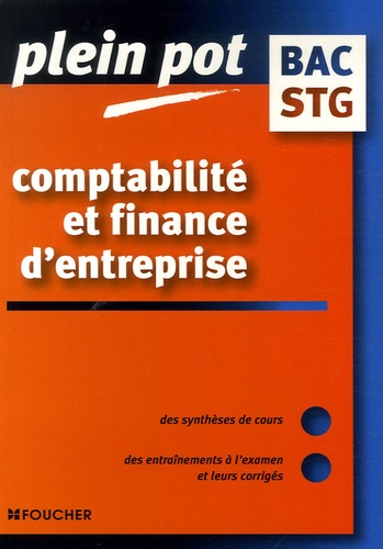 Michel Bringer - Comptabilité et finance d'entreprise Bac STG.