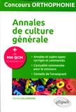 Michel Callamand - Annales de culture générale, concours orthophonie.