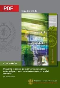 Michel Capron et René Audet - Pouvoirs et contre-pouvoirs des puissances économiques (Chapitre PDF) - Vers un nouveau contrat social mondial?.