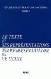 Michel Costantini - Le texte et ses représentations.