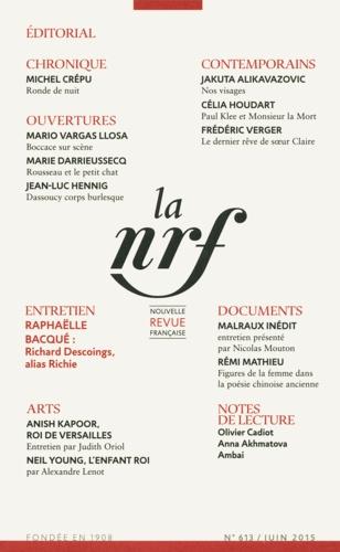 La Nouvelle Revue Française N° 613, juin 2015