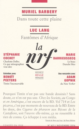 La Nouvelle Revue Française N° 621, Novembre 201