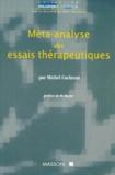 Michel Cucherat - Méta-analyse des essais thérapeutiques.