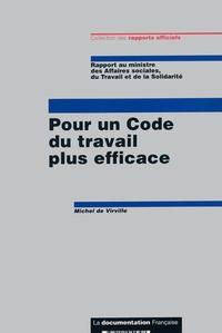 Michel de Virville - Pour un Code du travail plus efficace.