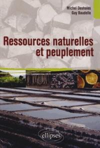 Michel Deshaies et Guy Baudelle - Ressources naturelles et peuplement - Enjeux et défis.