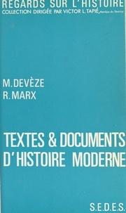 Michel Devèze - Textes et documents d'histoire moderne.