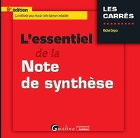 Michel Deyra - L'essentiel de la note de synthèse.