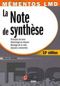 Michel Deyra - La note de synthèse.