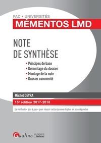 Michel Deyra - Note de synthèse.