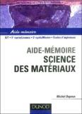 Michel Dupeux - Science des matériaux.