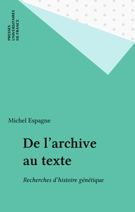 Michel Espagne - .