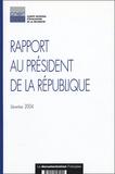 Michel Ferrier et Anny Cazenave - Rapport au Président de la République - CNER.