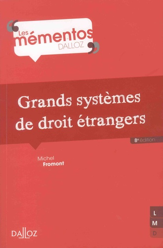 Grands systèmes de droit étrangers 8e édition