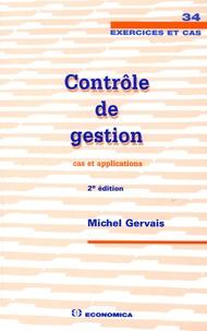 Michel Gervais - Contrôle de gestion - Cas et applications.