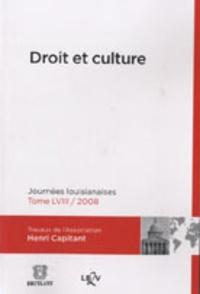 Michel Grimaldi - Droit et culture - Journées louisianaises 2008.