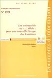 Michel Herbillon - Les universités au XXIe siècle : pour une nouvelle Europe des Lumières - Rapport d'information n° 1927.