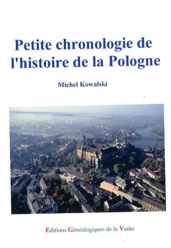Michel Kowalski - Petite chronologie de l'histoire de la Pologne.