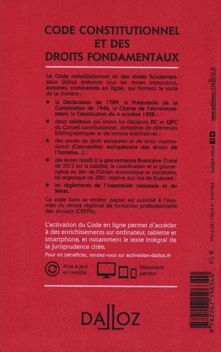 Code constitutionnel et des droits fondamentaux. Annoté, commenté en ligne  Edition 2021