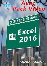 Michel Martin - Excel 2016 avec pack vidéo.