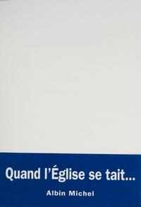 Michel Massenet - Le silence et la douleur - Lettre à Mgr Lustiger.