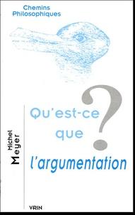 Michel Meyer - Qu'est-ce que l'argumentation ?.