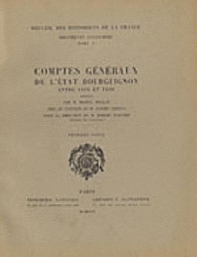 Michel Mollat - Comptes généraux de l'Etat bourguignon entre 1416 et 1420 - 1re partie.