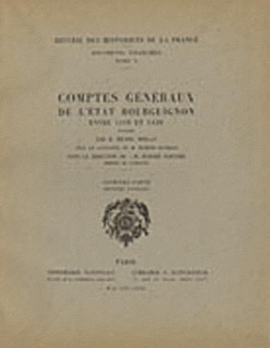 Michel Mollat - Comptes généraux de l'Etat bourguignon entre 1416 et 1420 - 2e partie (2e fascicule).