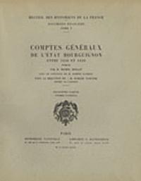 Michel Mollat - Comptes généraux de l'Etat bourguignon entre 1416 et 1420 - 3e partie (1er fascicule).
