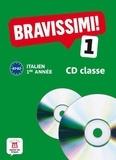 Michel Morel - Italien 1e année Bravissimi ! 1 A1-A2. 2 CD audio
