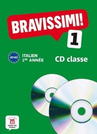 Michel Morel - Italien 1e année Bravissimi ! 1 A1-A2. 2 CD audio