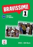 Michel Morel - Italien 1re année Bravissimi ! 1 A1-A2. 1 Cédérom + 1 DVD