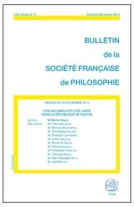 Michel Narcy - Cité naturelle et cité juste dans la République de Platon.